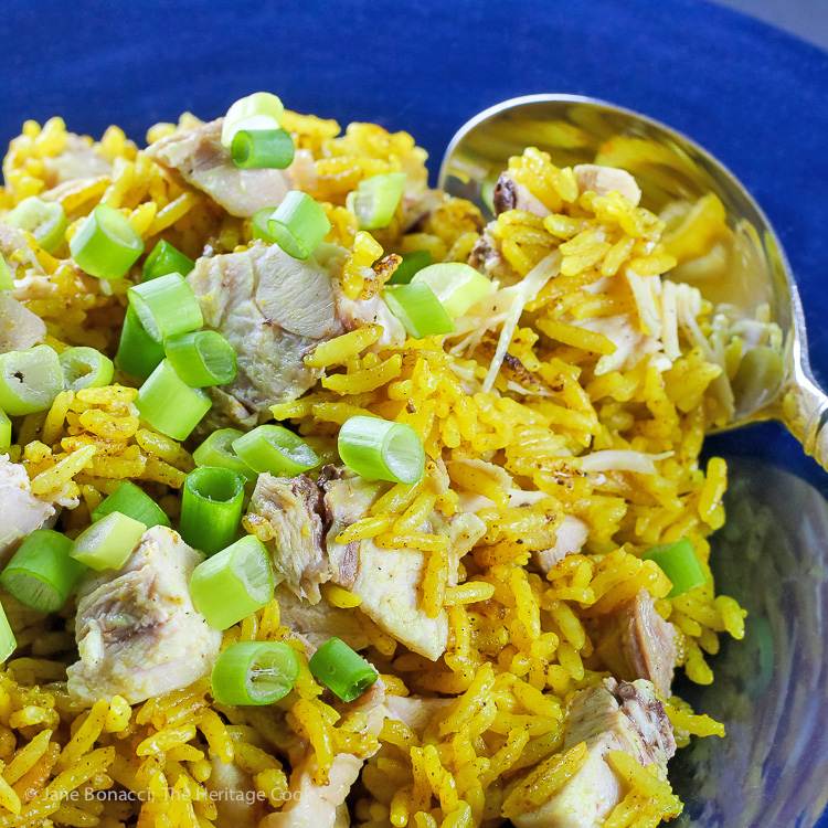 Easy Chicken and Rice Pilaf (Gluten Free) © 2019 Jane Bonacci, The Heritage Cook