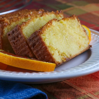 White Chocolate Orange Pound Cake (Gluten Free)