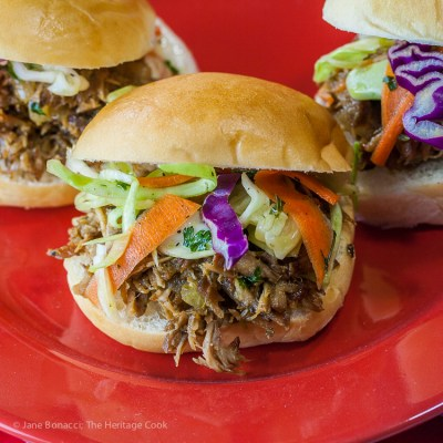 Slow Cooker Cuban Pulled Pork Sliders (Gluten-Free)