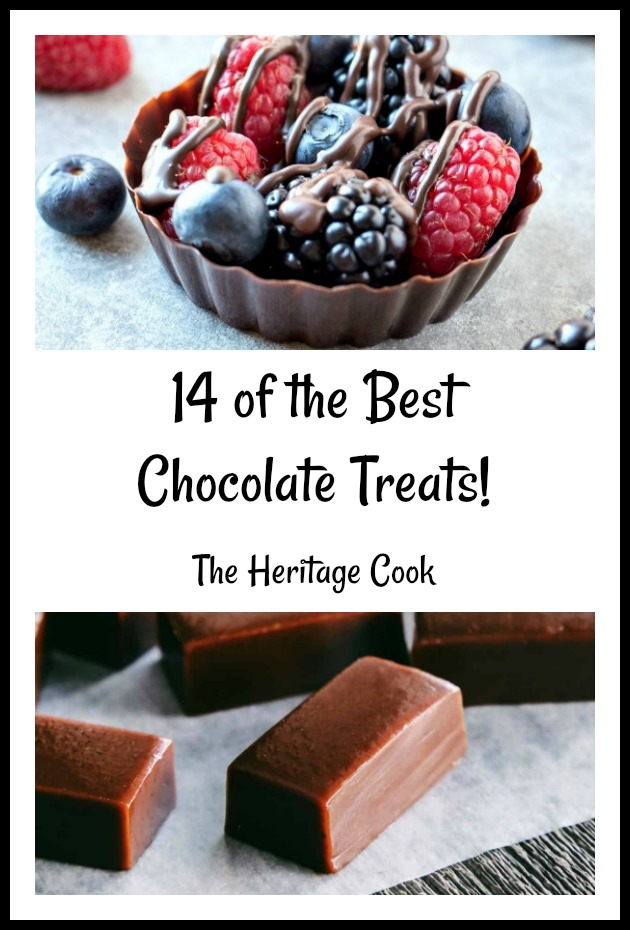 14 of the Best Chocolate Candies and Small Bites; compiled by Jane Bonacci, The Heritage Cook 2019