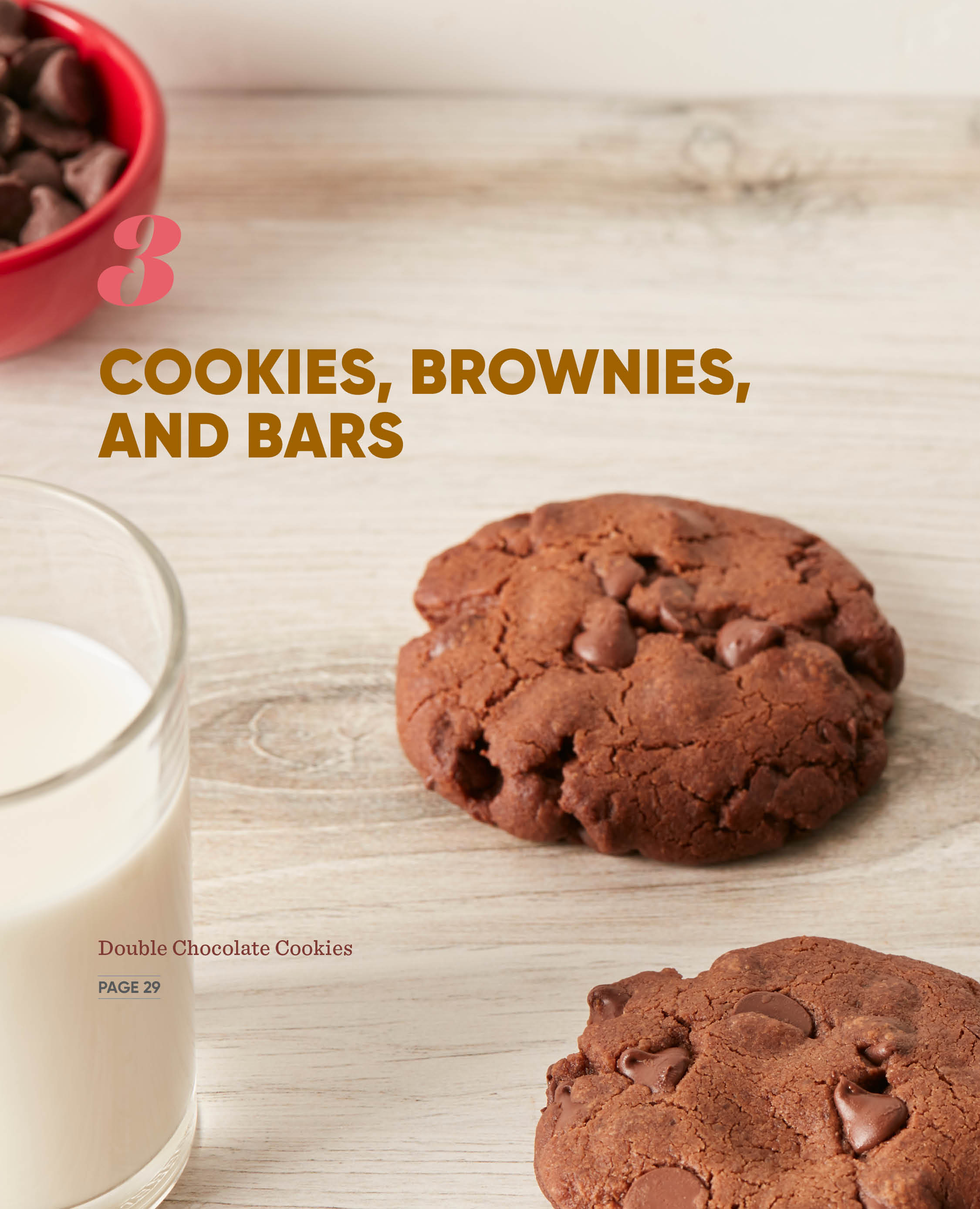 Chapter photo for cookies, brownies, and bars in the cookbook