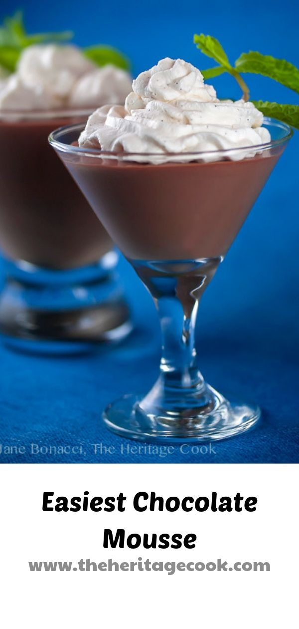 Pinterest pin for Easiest Chocolate Mousse