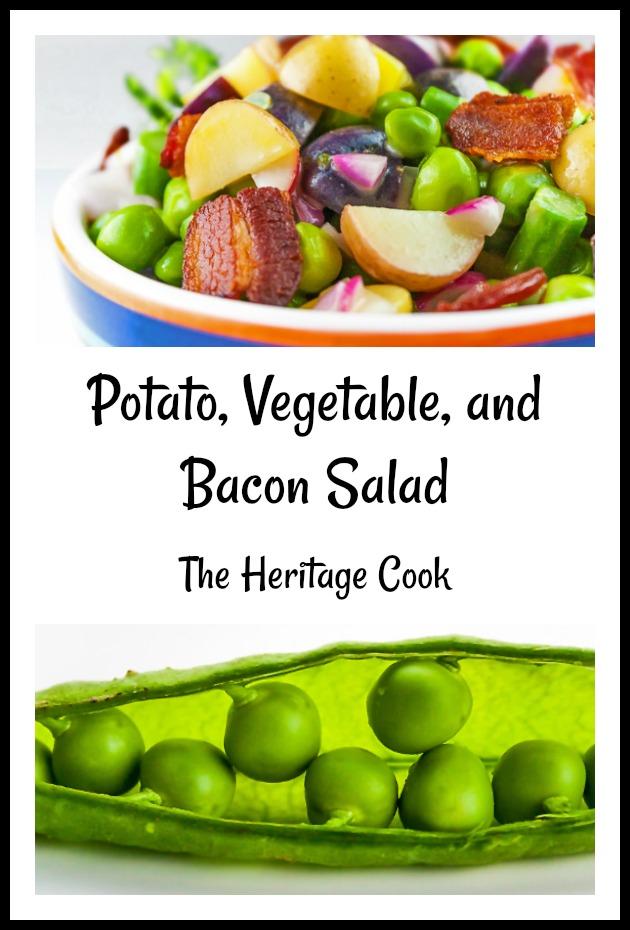 Potato, Spring Vegetable, and Bacon Salad Pinterest image