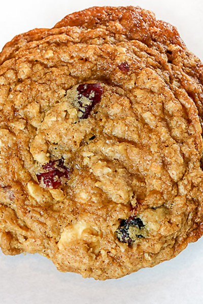 Oatmeal, Cranberry and White Chocolate Cookies © 2019 Jane Bonacci, The Heritage Cook