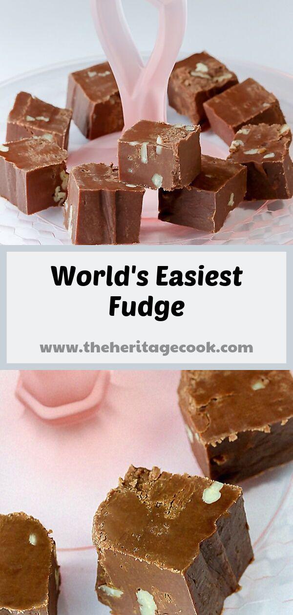 World's Easiest Homemade Fudge © 2019 Jane Bonacci, The Heritage Cook