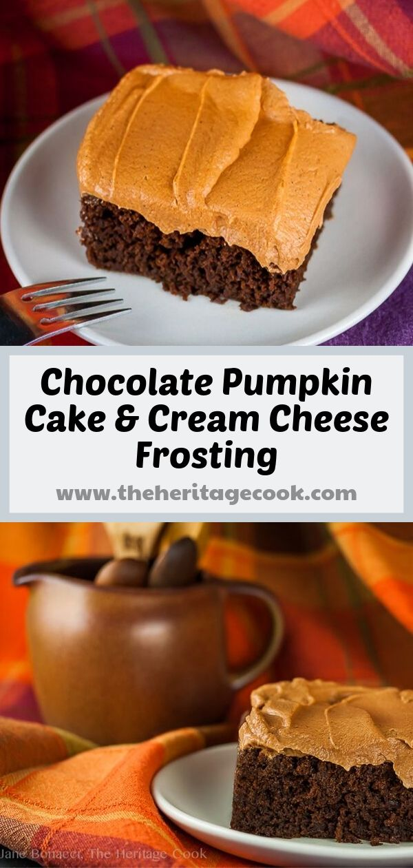 Gluten-Free Chocolate Pumpkin Cake; 2019 Jane Bonacci, The Heritage Cook