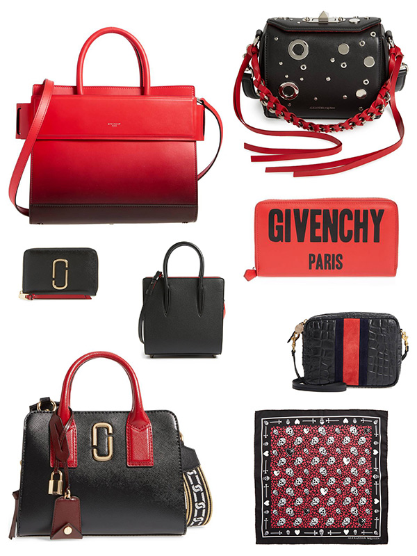 red and black accessories fall 2017