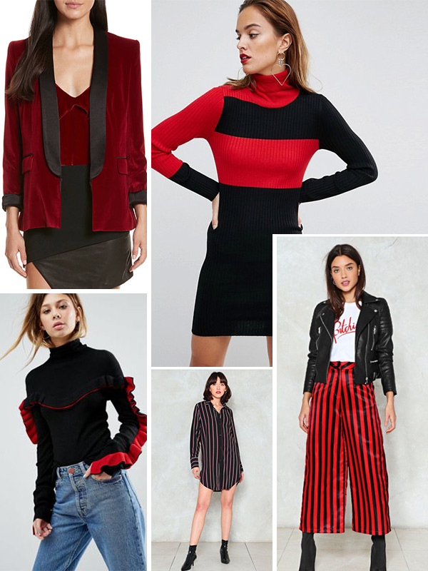 red and black clothing fall 2017