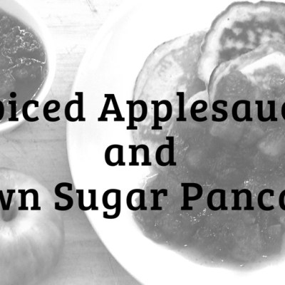 Spiced Applesauce with Brown Sugar Pancakes