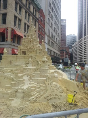 I stumbled on this crazy sandcastle during another walk, but I wanted to show it to you anyway.