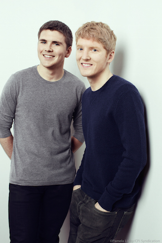 Brothers John and Patrick Collison, the founders of Stripe.
