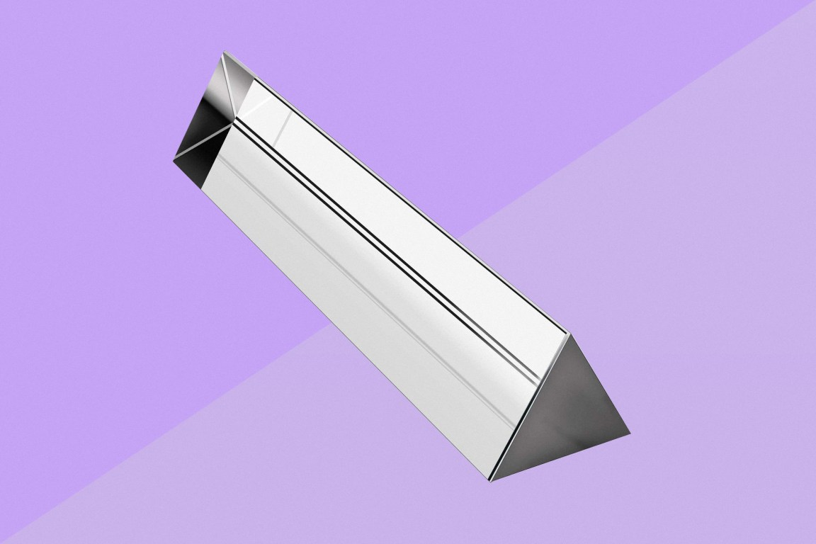 Glass Triangular Prism