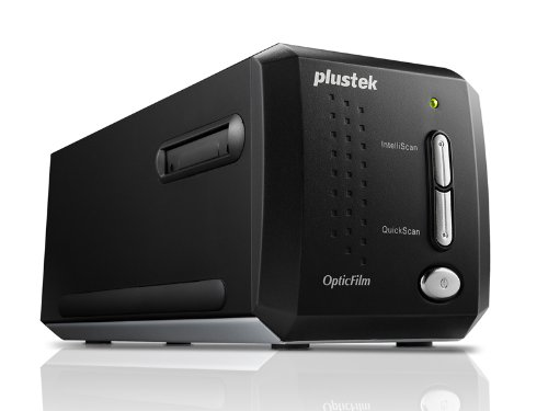 Plustek OpticFilm 8200i Ai High Resolution Film and Slide Scanner, 7200 dpi Optical Resolution, 48-bit Color Depth, Dust and Scratch Removal