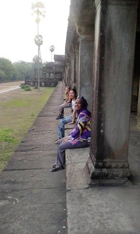Chilling in Angkor Wat