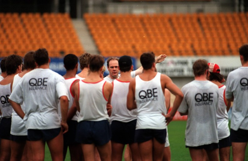 Sydney Swans AFL coach Rodney Eade with team members during training at SCG.  Australian Rules