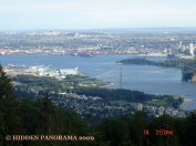 Some part of West Vancouver, Vancouver Harbor , Lions Gate Bridge, and Burnaby