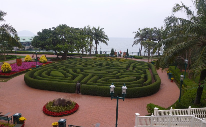 View At My Window : Hong Kong Disneyland Hotel Mickey Maze