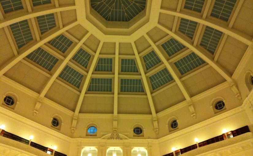 Interior : State Library Victoria – La Trobe Reading Room Ceiling
