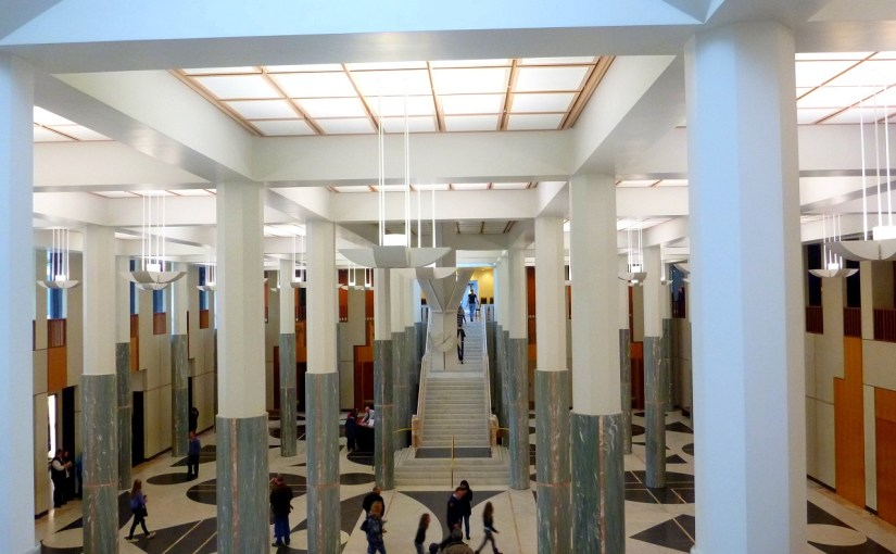 Interior : Canberra's Parliament House – Marble Foyer