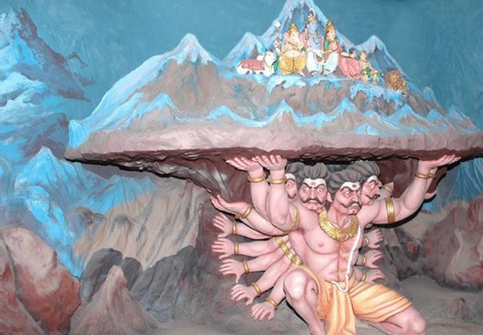 Raavan lifted Mount Kailash