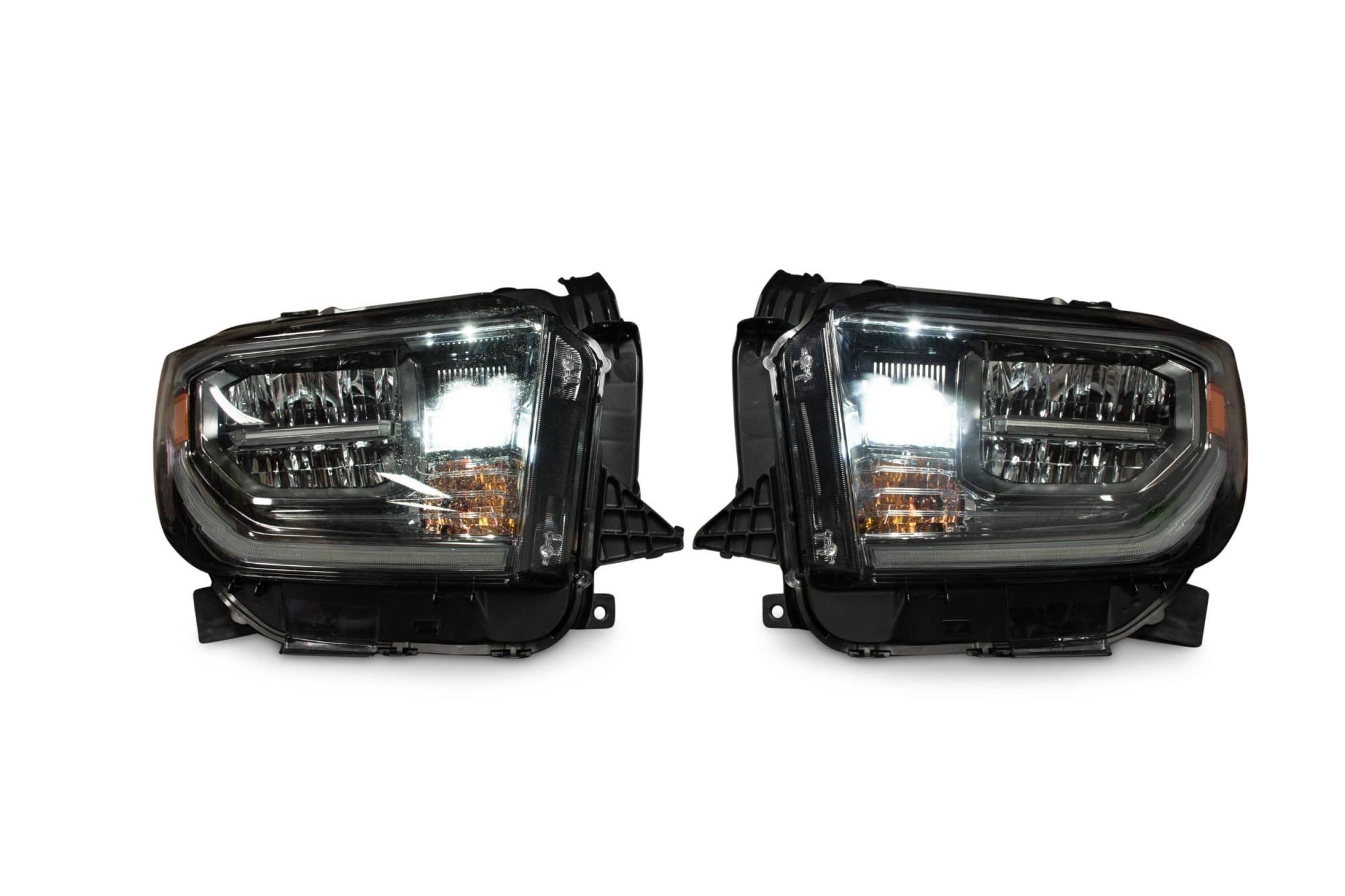 hight resolution of pair 2018 toyota tundra oem led headlights