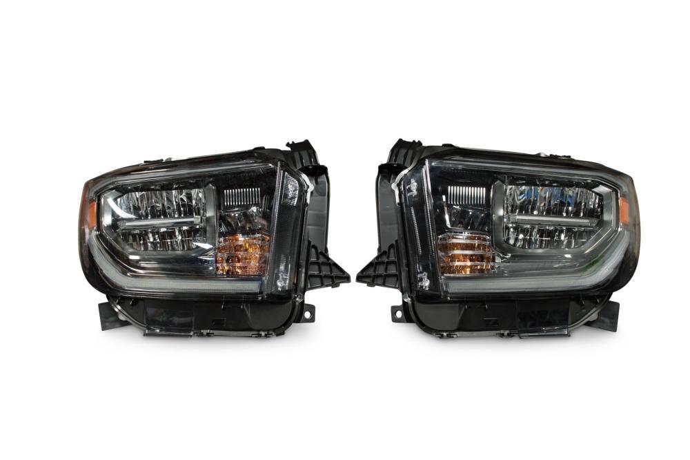 medium resolution of pair 2018 toyota tundra oem led headlights