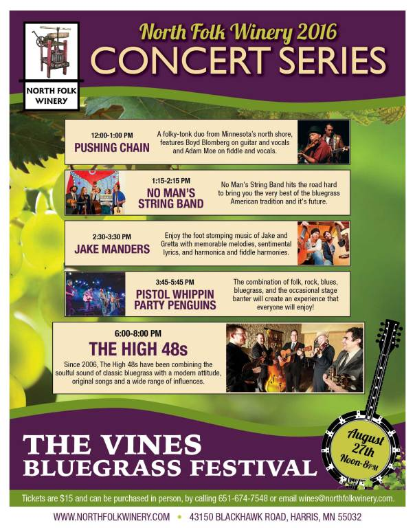The Vines Bluegrass Festival - Aug. 27 2016