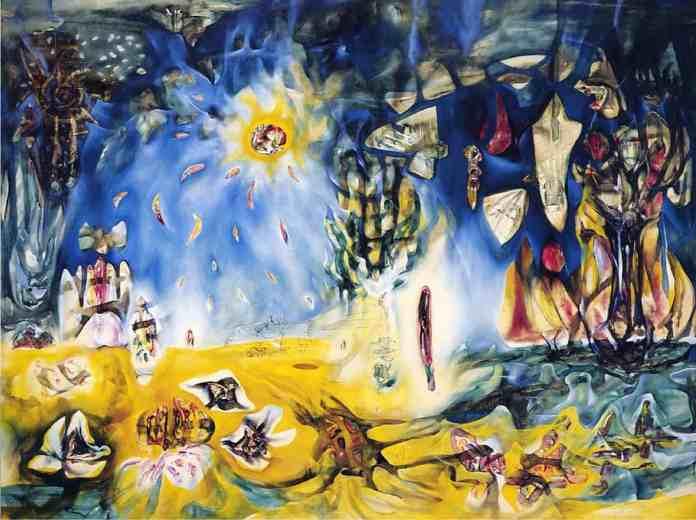 Brabbins, Ferneyhough, La Terre est un Homme review -Roberto Matta painting