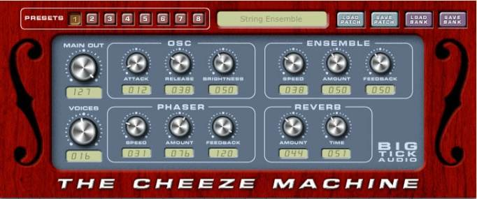 Cheeze Machine emulates the classic string ensemble sound