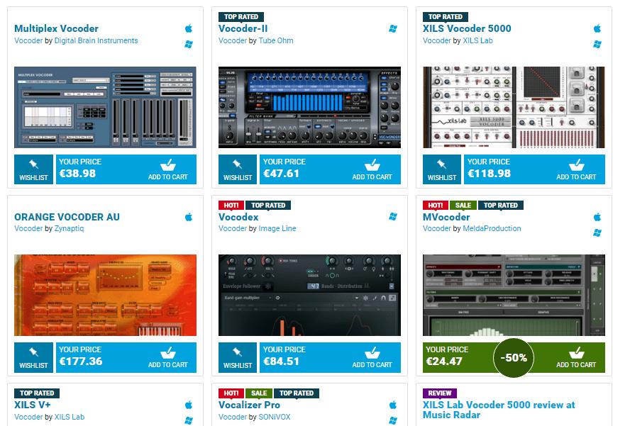 Looking for premium Vocoders ?