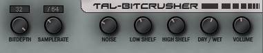 Download TAL-Bitcrusher a free VST for MAC and Windows