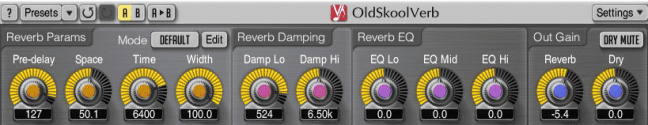 OldSkool Verb Mac and Windows vintage plugin VST