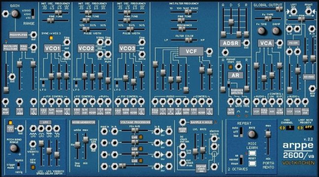 arppe 2600 va free synth plugin