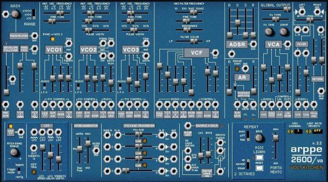 arppe 2600 va free synth plugin