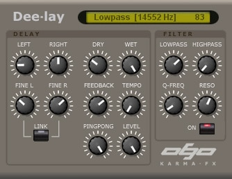 A simple delay plugin for free