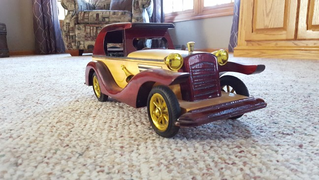 Old Wooden Model Car