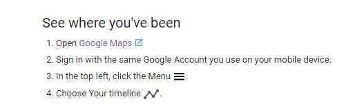 desktop intructions google timeline
