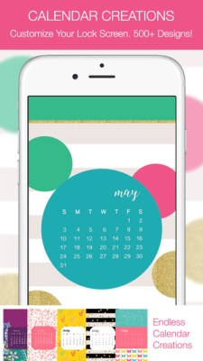 cuptakes iphone customization calendar