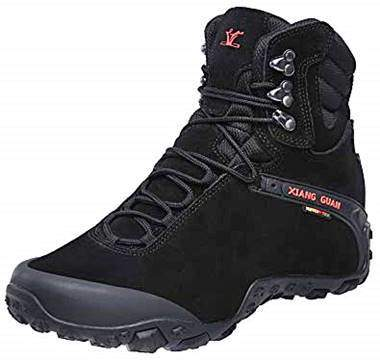 XIANG GUAN Men's Outdoor High-Top Waterproof Trekking Hiking Boots