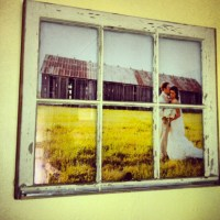 DIY  Vintage Window Pane Picture Frame