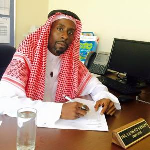La'Mont Geddis, Howard University Alumnus, class of 1996, is pictured here during his time as a principal in Saudi Arabia. (Photo courtesy of La'Mont Geddis)