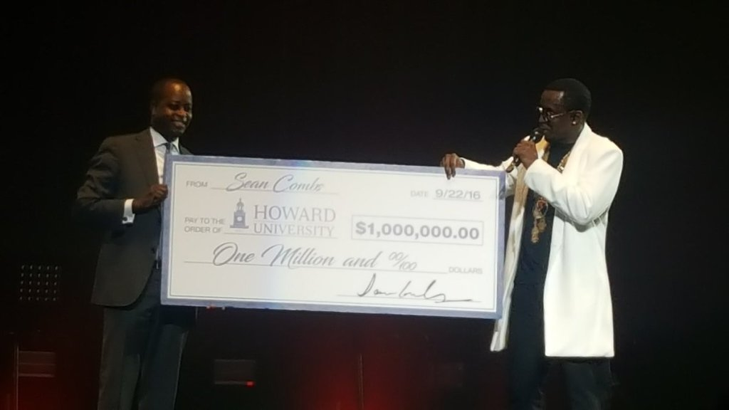 """Take That, Take That:"" Diddy Gives Howard U $1 Million For Scholarship"