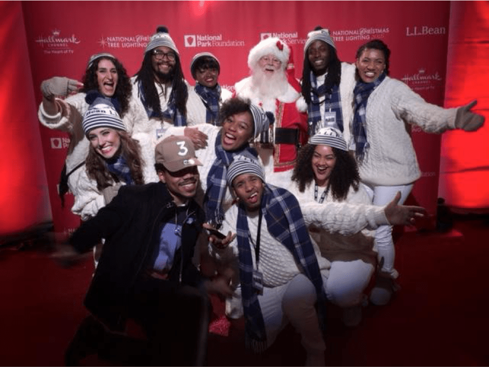 Howard University's Afro Blue Performs at 94th Annual National Christmas Tree Lighting
