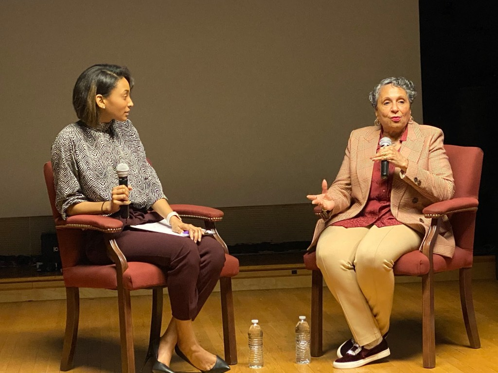 Cathy Hughes and the Women of Urban One Kick-off Women's History Month Talking to Howard Students