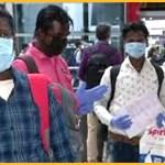 विमान से घर लौट रहे मजदूर (फोटो-एएनआई)