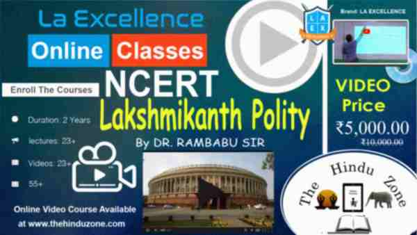 Video Course of Laxmikanth Polity for UPSC
