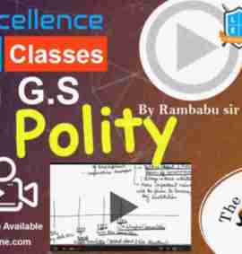 Video Course of General Studies Polity For UPSC By Rambabu sir & siddhartha sir