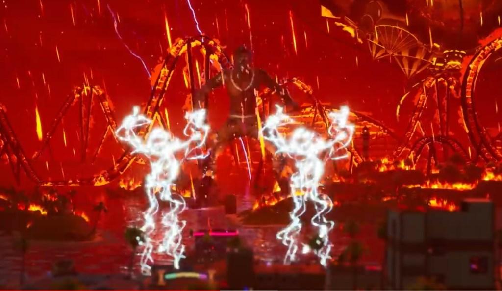 Travis Scott Performing for Fortnite Concert
