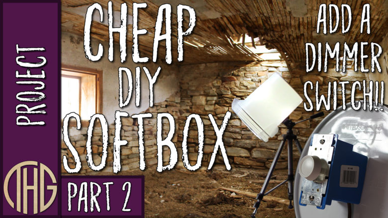 Cheap DIY Softbox Lighting For Video Or Photography! Part
