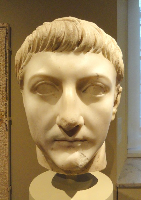 Carved head supposedly of Drusus Julius Caesar, exhibit in the Cleveland Museum of Art, Cleveland, USA. [Public Domain] via Creative Commons